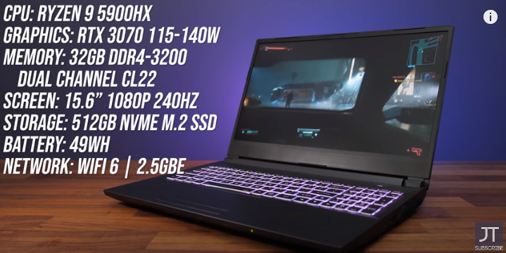 The FASTEST Laptop CPU I've Tested! Gigabyte A5 / XMG Apex 15 Review